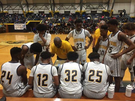Battle Creek Central boys basketball coach Durant Crum