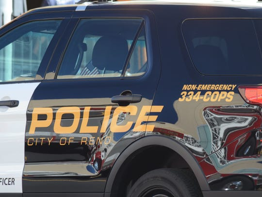 A file photo of a Reno Police Department vehicle.