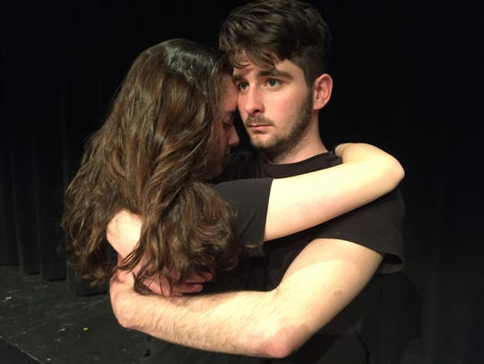 Kole Mallien, right, and Grace Alberts in a scene from
