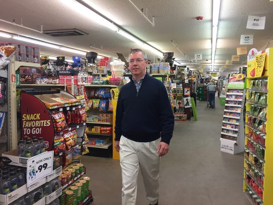 Rob Cassidy, owner of Paul's Discount stores in Clinton