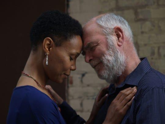 Malkia Stampley (left) plays Cordelia and Jim Pickering
