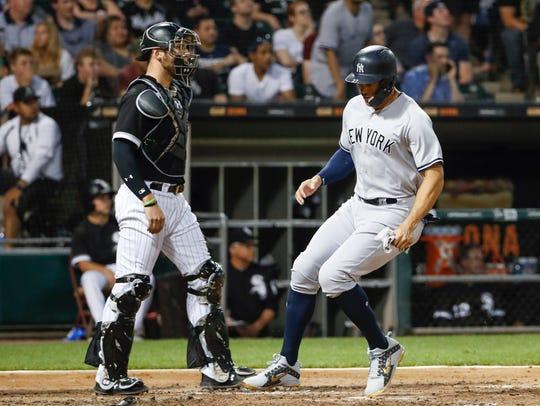 New York Yankees left fielder Giancarlo Stanton (27)