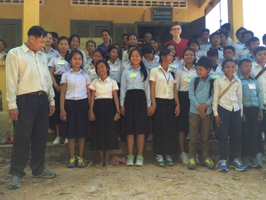 A school in the Cambodian city of Siem Reap gladly