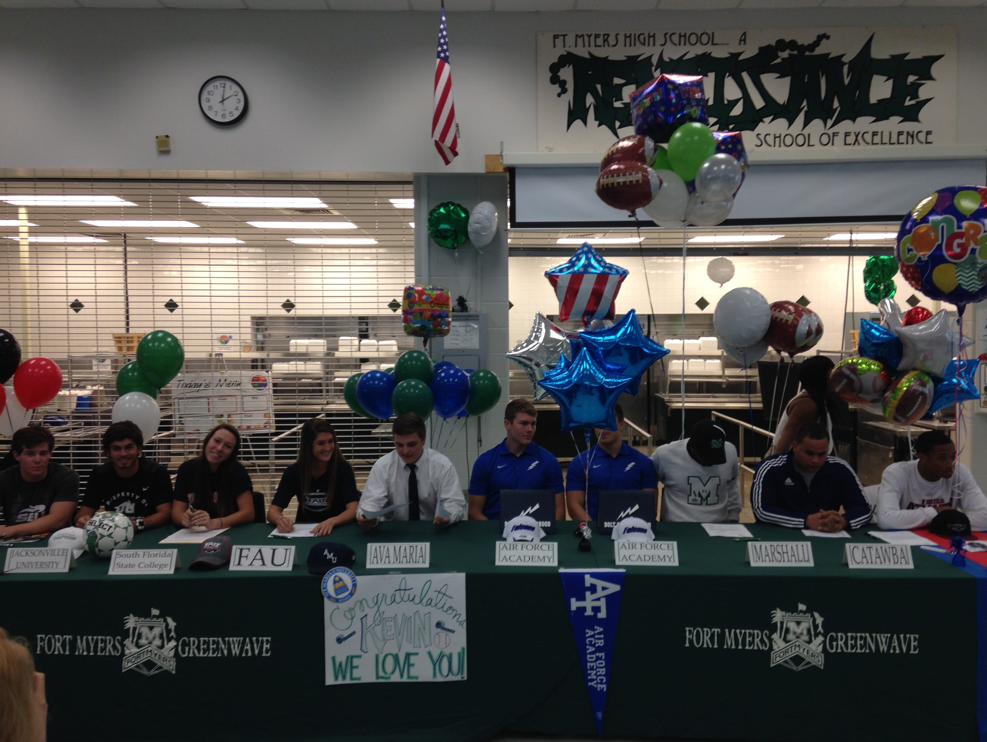 National Signing Day at Fort Myers High School