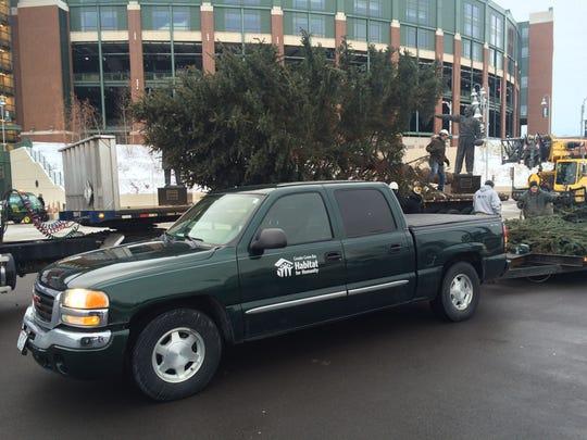The Lambeau Field Christmas tree.