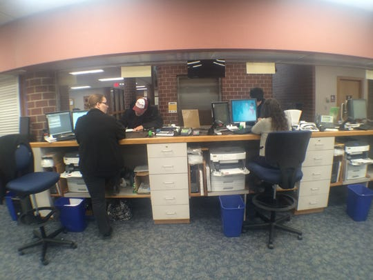 Employees at the Johnson County Treasurer's Office