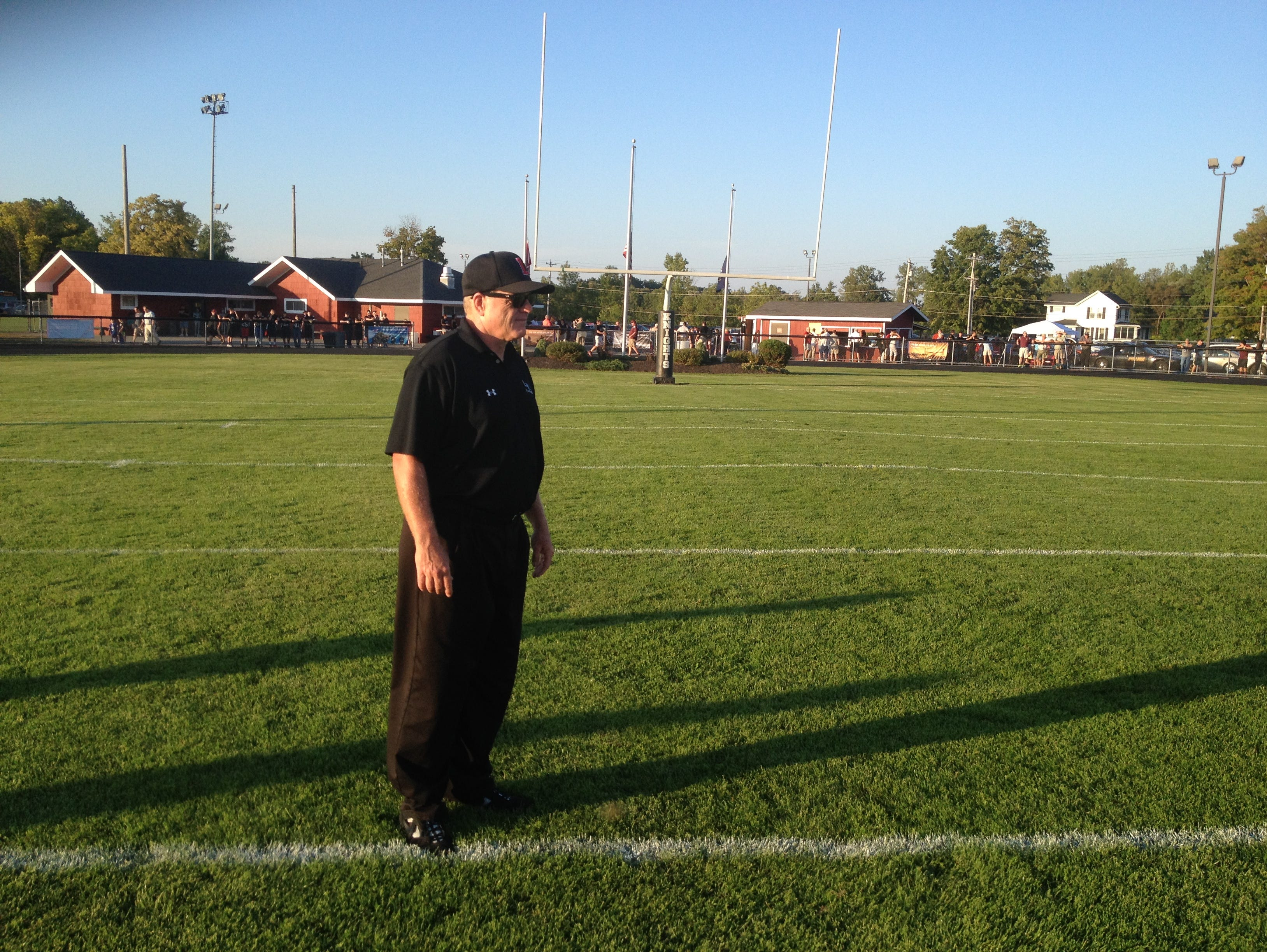 LeRoy football coach Brian Moran