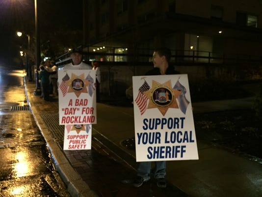 Rockland Sheriff's Office Protest
