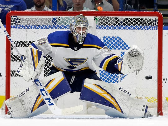 Despite playing in just 23 games so far this season, rookie goalie Jordan Binnington is an outside contender for the Calder and the Vezina trophies.