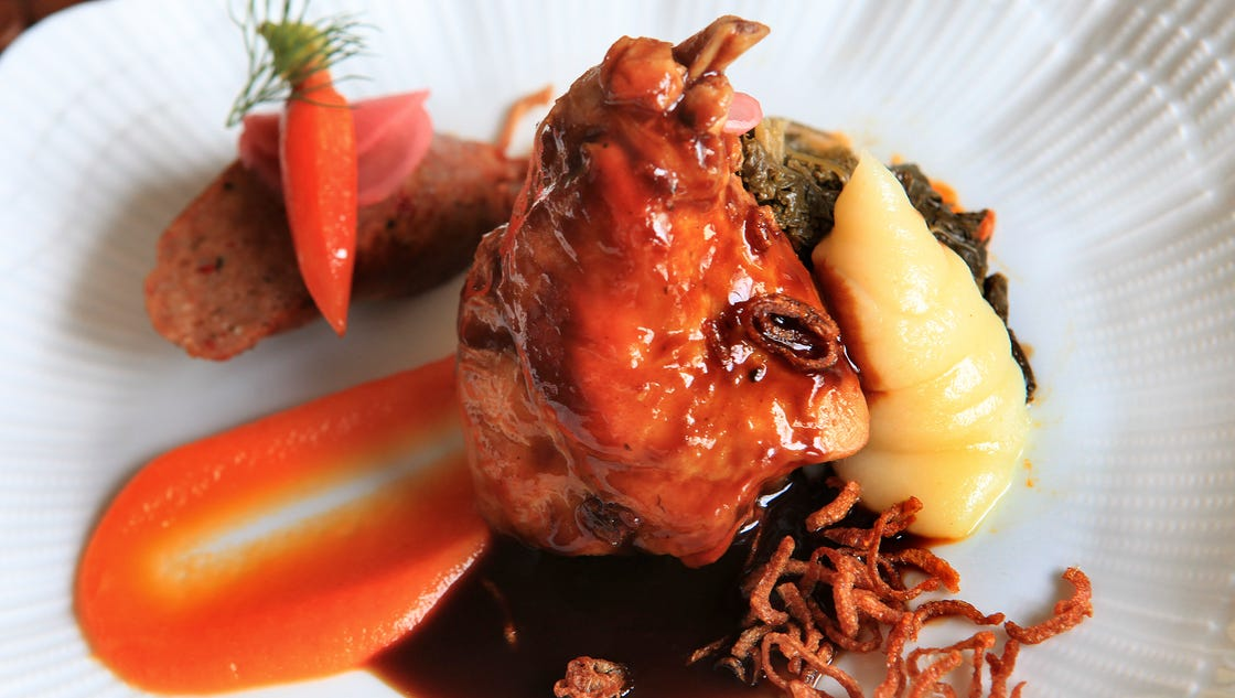 Braised rabbit for 2b cuisine epsom downs