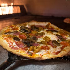 Pizzas are made to order at Fired Pie.