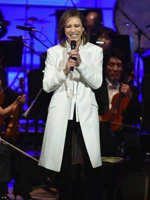 Yoshiki and the Tokyo Philharmonic Orchestra in concert at Carnegie Hall on Jan. 13, 2017 in New York City.