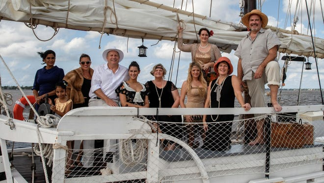 Nazeera Amiruddin, left, Nadia Amiruddin, Amber Ducote, Tom Munhollen, Emmelis Keaney, Polly DeLater, Gina Barca, Sarah Baker, Betsy Johnson, and Bill West have worked hard planning the inaugural Rum Runners Row Garden Bash on Sept.21 at Molly's House in Stuart.