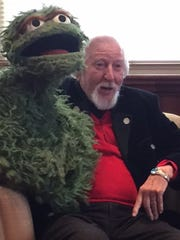 Caroll Spinney, who has played Oscar the Grouch and Big Bird for 47 years, visited Miami University Feb. 15 as part of its lecture series.