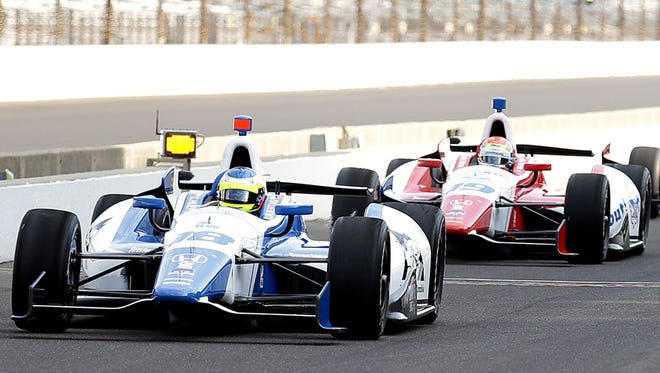 Indy 500 practice, May 2014.