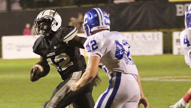 Alan Gardner scored Springfield's only touchdown in the 10-9 loss to Macon County.