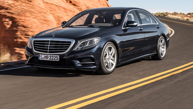 Mercedes-Benz parent Daimler said it doubled Q1 profits to $1.5 billion, powered by strong sales of redesigned S-class, which offers such exotic features as night vision. A 2014 U.S. model is shown.