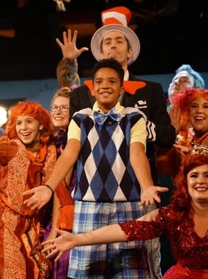 "Marcus Myers, 12, was honored by the Eastern Massachusetts Association of Community Theatres for his role in ""Seussical the Musical."""