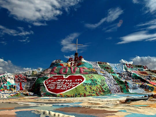 Salvation Mountain photographed on Tuesday, September