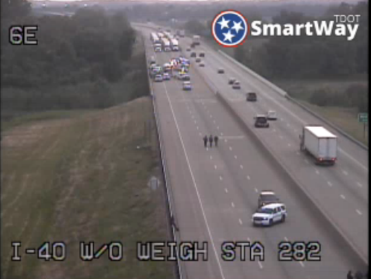 Police have blocked I-40 EB in West Memphis because