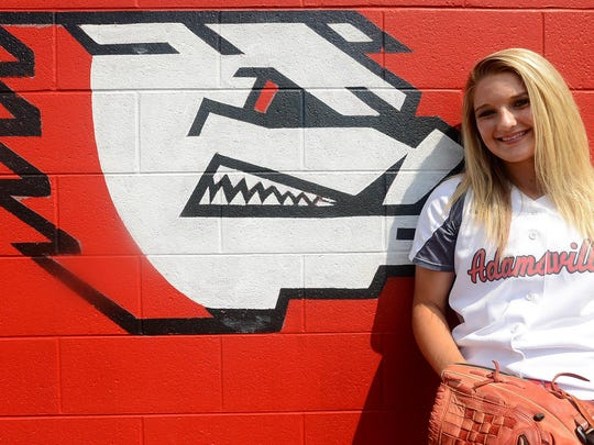 Adamsville's Gabby Morris has signed to play college softball at Union.