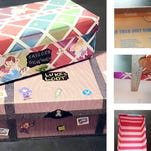 Turn your trash into treasure … literally. Treasure and keepsake boxes made from empty shoeboxes.