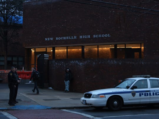 New Rochelle police continue to patrol the Hew Rochelle