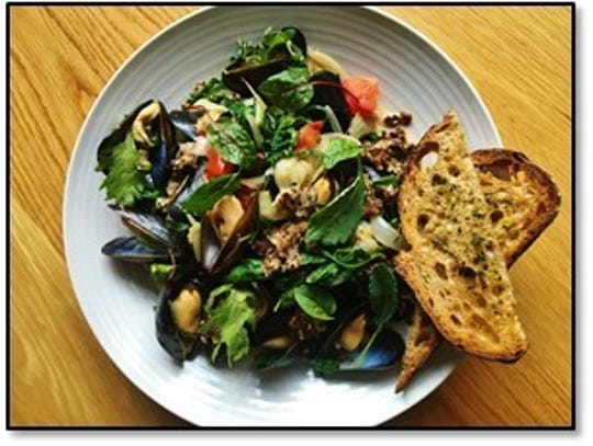 Steamed mussels is the first Dish for Hope at Juniper