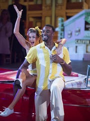 "Lions great Calvin Johnson in ""Dancing with the Stars."""