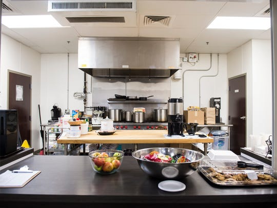 The kitchen at New Hope Ministries in Hanover serves