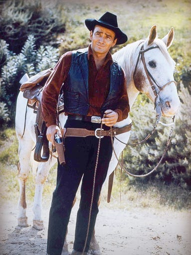 """James Drury, who grew up in Salem, was the star of the western TV series """"The Virginian,"""" which aired on NBC from 1962 to 1971."""