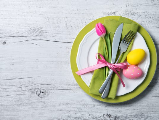 Easter table stock