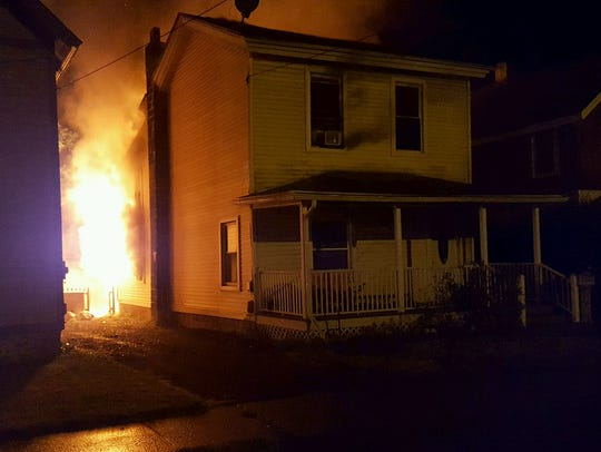 An early-morning fire destroyed the home at 13 W. Morris