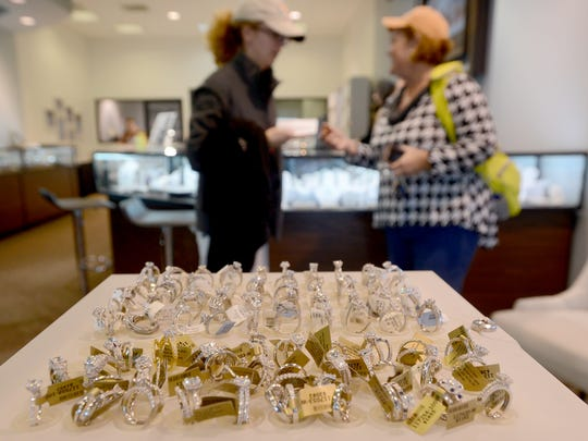 Customers shopped at Little's Jewelers for Small Business Saturday.