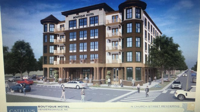 Courthouse Inn, a 70-room boutique hotel, is proposed for a vacant lot at 101 N. Church St.