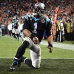 Panthers quarterback Cam Newton (1) wasn't able to get on track in losing Super Bowl 50.
