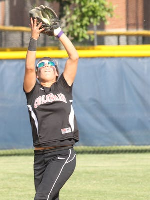 Colerain second baseman Hayley Curtis makes a catch in a loss to Lebanon during the 2013 season.