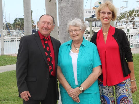 St. Lucie Memory Circle founding members Bob Gorman, left, Janice Smith, and Laura Gray.