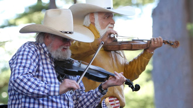 In 2010, Charlie Daniels performed next to hand-carved wooden statue created to honor him for his record number of appearances at Indian Ranch in Webster.