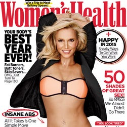 Britney Spears shows off her abs for the magazine.