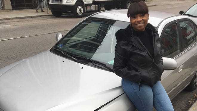Miadra Cheatham, a UC psychology students, is wishing for $313.14 to fix her 2001 car.