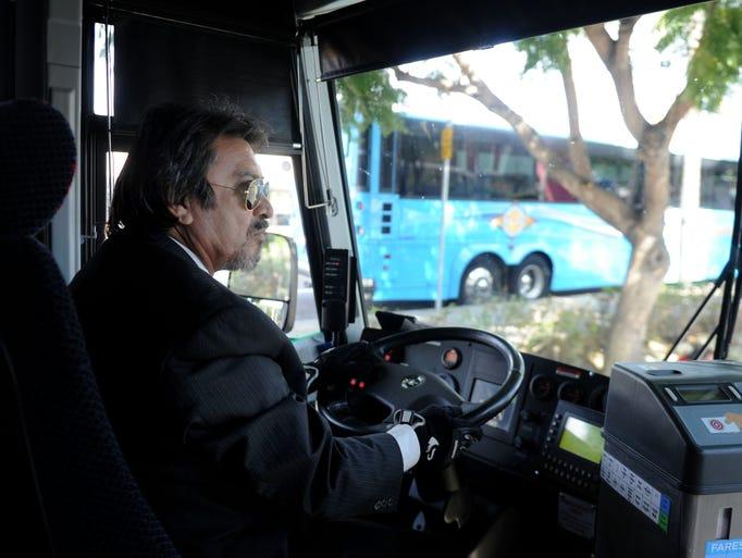 Alex Serrano, a bus driver on the Ventura County Transportation