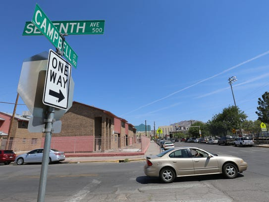 Campbell and Kansas streets south of Paisano Drive