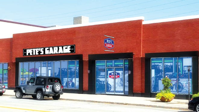 An artist's rendering of what a remodeled Pete's Garage will look like
