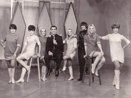 "George Klein is joined by the ""WHBQties"" on ""Talent Party"" in this undated photo."