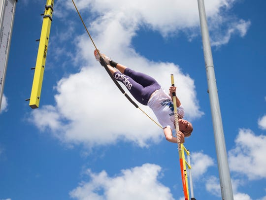 Texas A&M-Corpus Christi's pole vaulter Hannah McWilliams