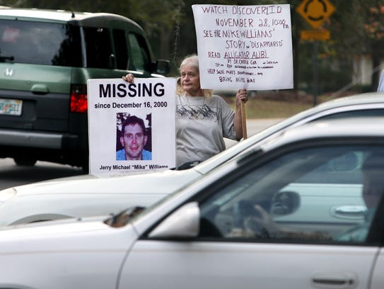 Cheryl Williams held a lonely vigil in 2011 near the