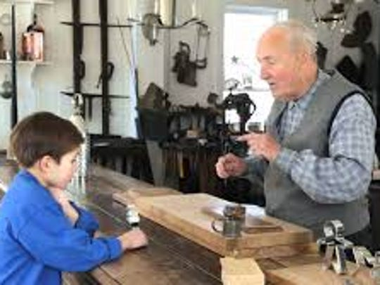* John Holochwost, tinsmith, will demonstrating his skills as he uses simple tools to make useful articles.
