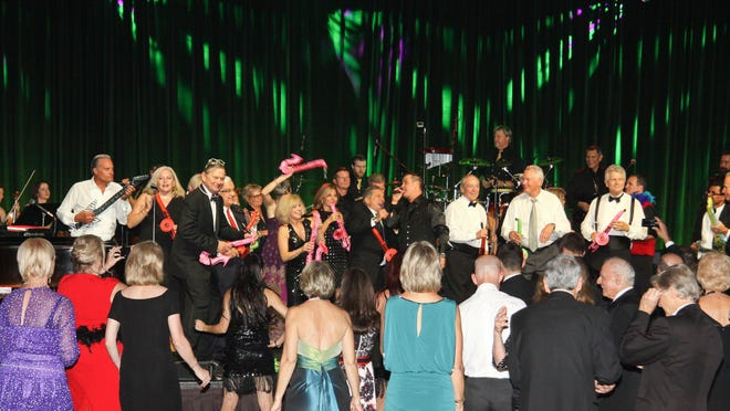 The high-energy Sensation Show Band kept everyone up and dancing at the Eisenhower Five Star Gala.
