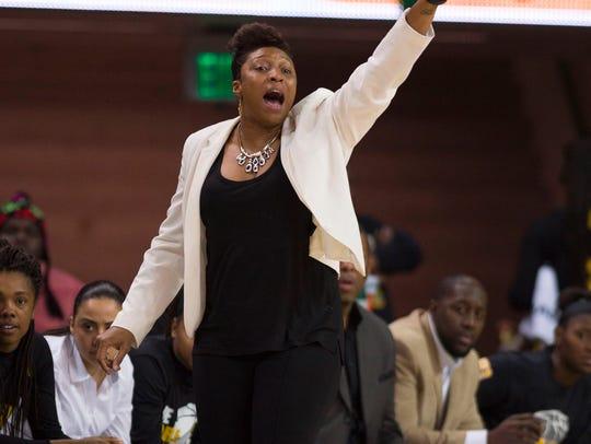 Grambling women's basketball coach Nadine Domond led